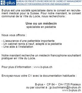 annonce_LeLocle_pédiatre